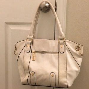 White shoulder bag purse